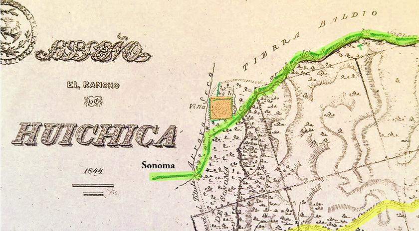 Diseño, el Rancho de Huichica_1844-A XX